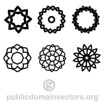 Vector pack with tribal shapes by publicdomainvectors