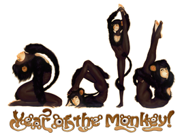 2016 Year of the Monkey by Yuni