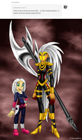 Human Zirra and Cynder by Seeraphine