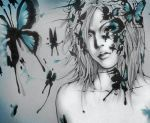 Uruha with the Butterflies by Alzheimer13