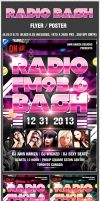 Radio FM New Year Bash Flyer Poster PSD by amrhamza