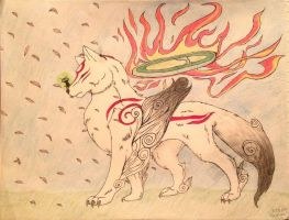 Amaterasu and Issun by DrCrazyWolf