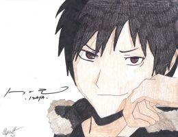 Durarara Izaya Orihara Drawing Signed by kikyo4ever
