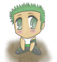 Chibified Zoro by SnowLady4Ever