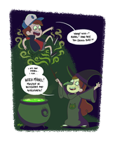 Gravity Falls - Witch Mabel! by scribblywobbly