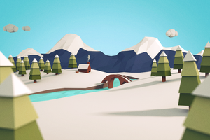 Low Poly Winter by ashingtongreen