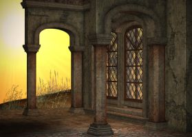 Evening Chapel Background by Lil-Mz