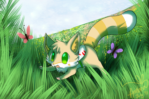 Frolicking by Eevie-chu