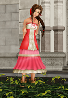 Aerith (KH2) Hi-Poly DOWNLOAD by Reseliee