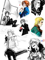 Hetalia sketches by mad-sama
