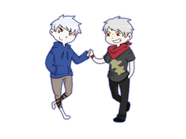 Jack Frost and Prussia by saeru-bleuts