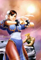 Chun Li and Guile by FabyLeon