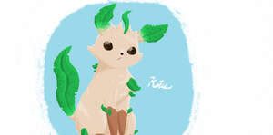 Leafeon by evilpuppet109