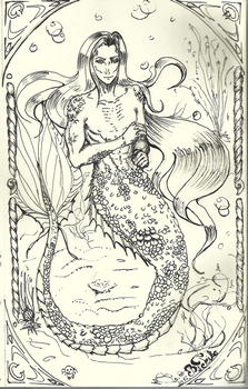 Merman for Inktober by teika1997