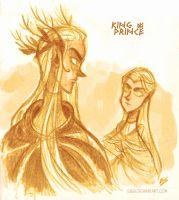 The hobbit- King and prince by Eis-Blasich