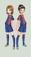 Lio and Ale Pixel Art by YukiMiyasawa