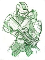 Master Chief John 117 by SpartanPrincess