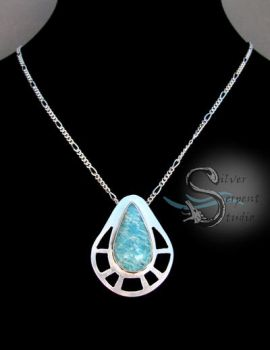 Amazonite Pendant - sterling silver by PurlyZig