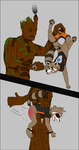 Groot spanks Rocket by 951oemorafla