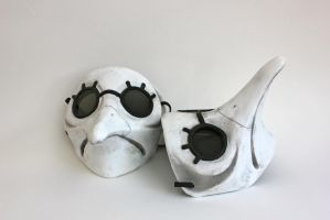 Painted Malfatto Masks by FeralWorks