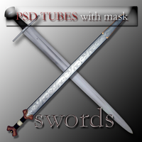 psd sword tubes with mask by feniksas4