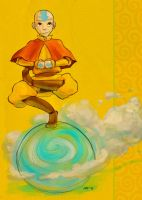 Aang - air thingy - Colored by zuluyo
