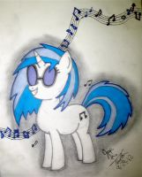 Vinyl Scratch Approves. by JesseThaCherry