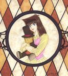 Gift: Anzu with Layton Plush for SamCyberCat by Yamigirl21