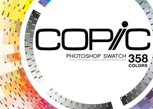 Copic Swatches (Photoshp) by Snowys-stock