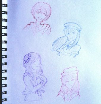 lovelive sketchdump by luckcharm