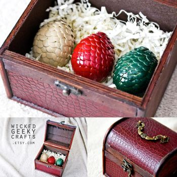 Game of Thrones Inspired Chest of Dragon Eggs by 3direwolfmoon