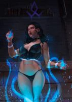 Yennefer open wrong portal by EvaS0L0