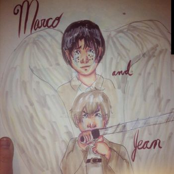 Attack on titan: Jean and Marco by sealandmintbunny