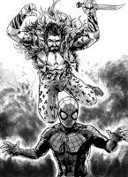 Kraven attacks by MarcLaming