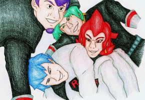 Team Rocket Executives by DragonFoxStar