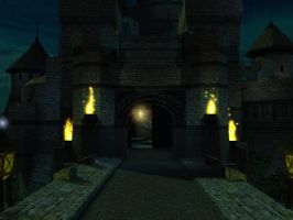 Fantasy castle background 9 by indigodeep