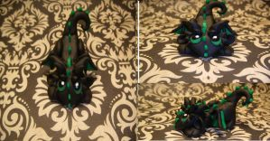 Black and Green Playful Dragon by XDtheBEASTXD