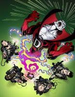 Deadman and the Ghostbusters in Color! by johntrumbull