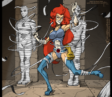Coloring Commission - When Bandages Attack by StarDragon77