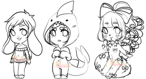 WIP Chibis 3 by Pikapaws