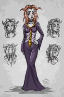 Character Concept - Sharla Kur by hooksnfangs