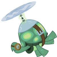 Tank the flying Turt- Err, Tortoise! by AxemGR