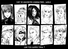 Top 10 favorites character 2 by Tohad