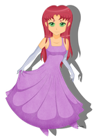 Starfire Prom Dress by RandomSilentNinja