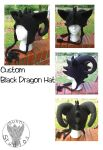 Black Dragon Hat by TheCrochetDragon