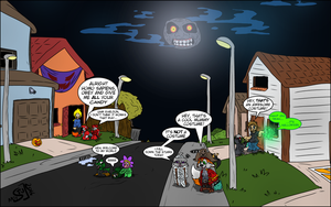 56E - Halloween special drawn by Stu by Hukley