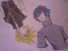Noctis and Cloud - FF by Finalbladeyuking13