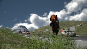 GT6: And the car came tumbling down. by K9RASArt