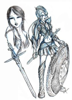 character design 1 : warrior by alieonor