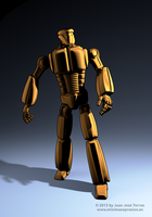 Cartoon Robot - A Cycles toon shader study by JuanJoseTorres